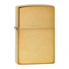 Zippo - Brushed Solid Brass